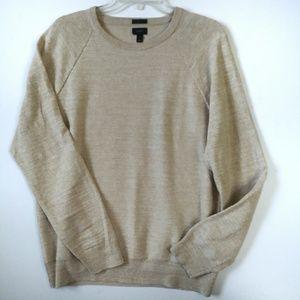 J. Crew Slim Fit Cotton Crew Neck Sweater Sz M